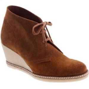 J. Crew MacAlister Brown Suede Wedge Boot